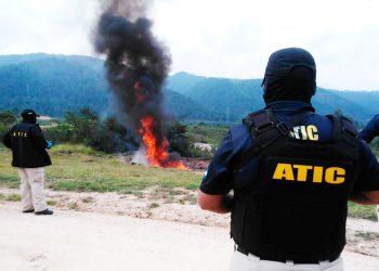 Incineran 100 kilos de cocaína incautados a otra avioneta en Brus Laguna