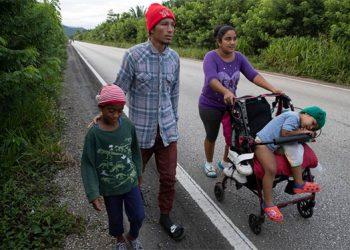 Guatemala frena nueva caravana de migrantes