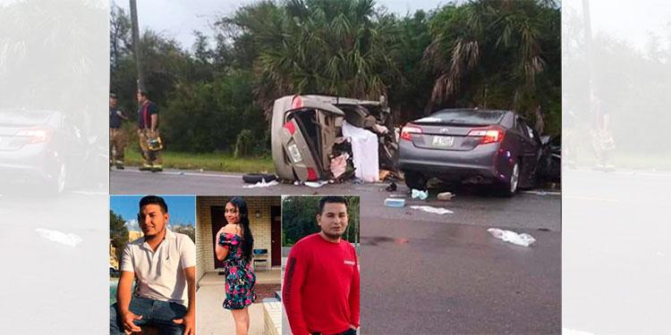 Tres hondureños mueren en fatal accidente de tránsito en EEUU