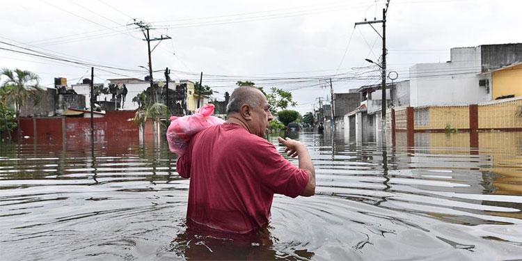 Más de 513.000 afectados por las inundaciones en el sureste de México