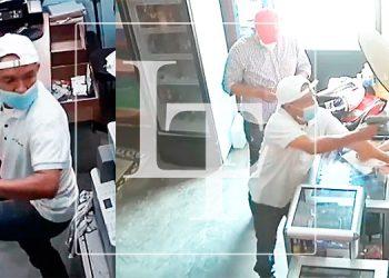 Cámaras de seguridad captan a asaltantes de negocio en SPS