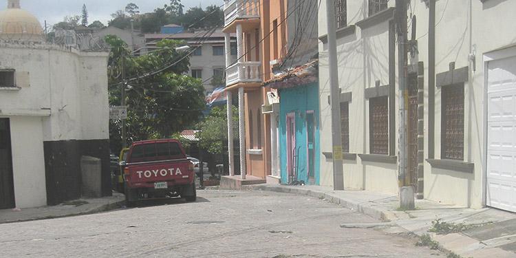 """Barrio San Sebastián. Hoy conocido como barrio """"El Olvido""""."""