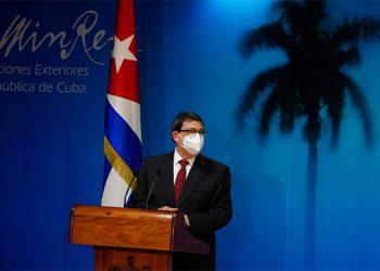 El ministro de Relaciones Exteriores de Cuba, Bruno Rodríguez Parrilla.