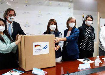 Laboratorio de virología recibe reactivos sondas y encimas para pruebas PCR de Alemania
