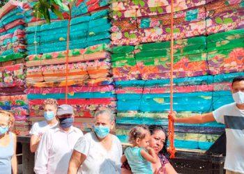 Con esta entrega fueron beneficiadas 105 familias de la colonia Calpules, en San Pedro Sula.