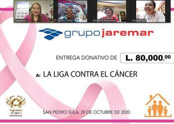 La donación se desarrolló en el contexto del mes dedicado a la campaña para la prevención del cáncer de seno.