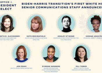 Equipo de comunicaciones nombrado ayer por Joe Biden