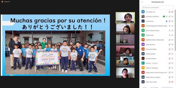 El voluntario japonés agradeció a los niños hondureños por su participación.