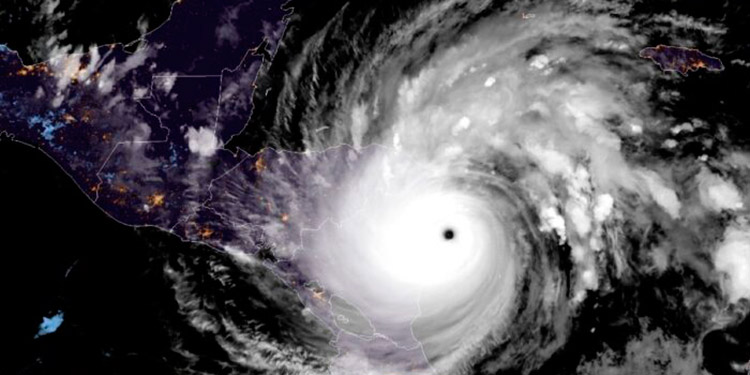 El huracán ingresará al territorio hondureño hoy por la noche, al sur del departamento de El Paraíso.