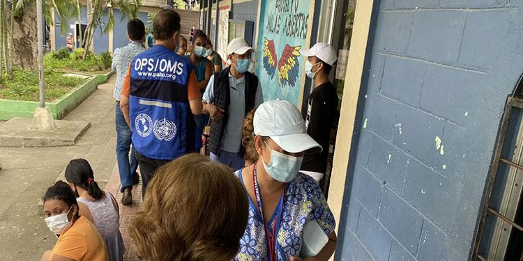 OPS prevé alza de casos de covid-19 en Centroamérica tras Iota y Eta