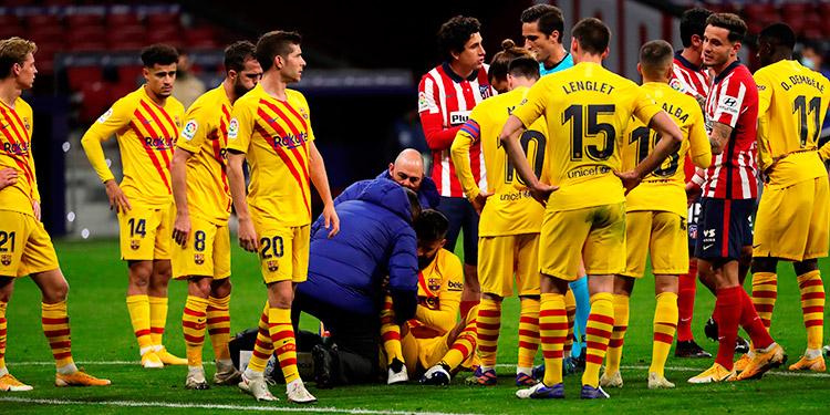 Nuevo golpe al Barcelona tras confirmación de lesión de ligamentos de Piqué