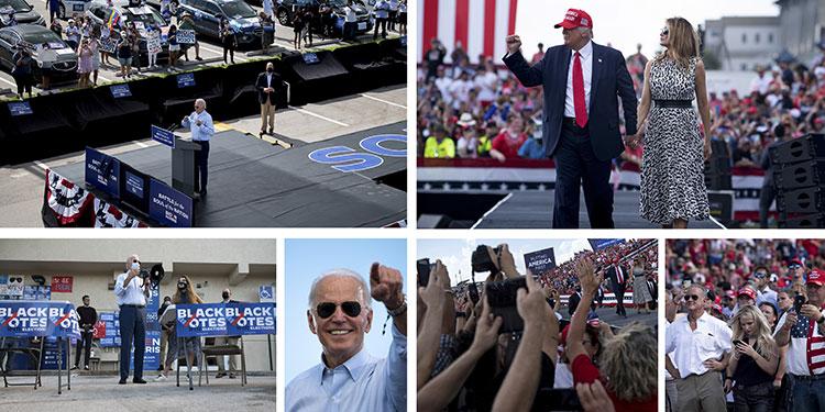 Trump corre y Biden camina en la recta final hacia la Casa Blanca