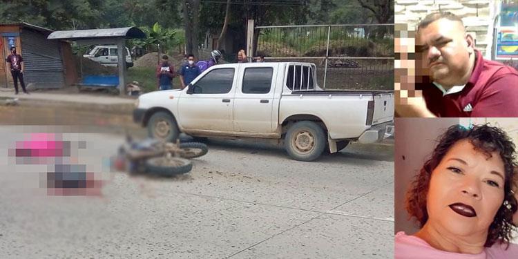 Nelson Castillo y Gloria Aidé Coto Mejía (fotos insertas) fueron arrollados por un automotor pesado.