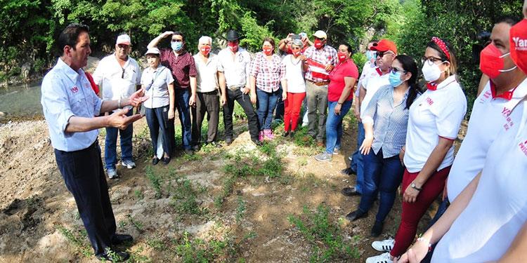 En la jornada los Yanista previo a la juramentación de sus grupos de apoyo.
