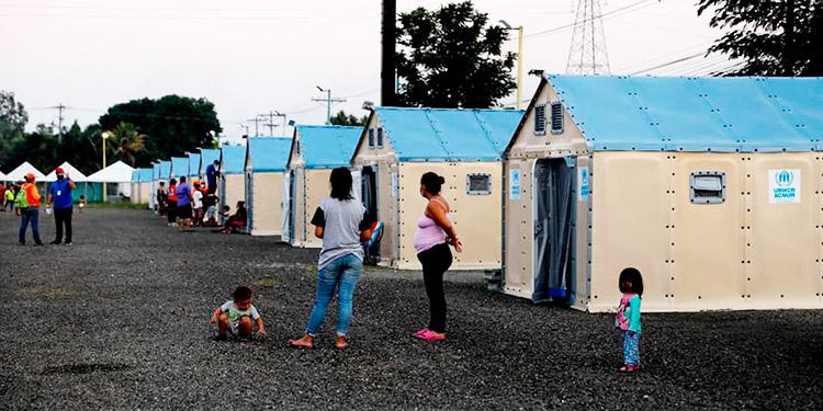 Primeras 13 de 48 familias se instalan en nuevo albergue de SPS
