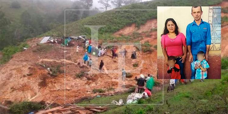Cuatro miembros de una familia mueren soterrados en Ocotepeque