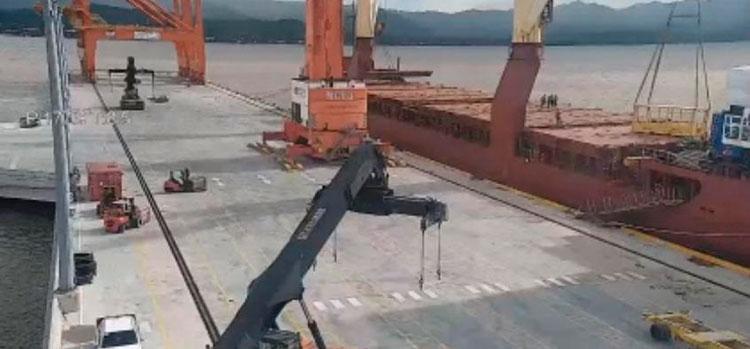 Llegan los tres hospitales móviles restantes a Puerto Cortés