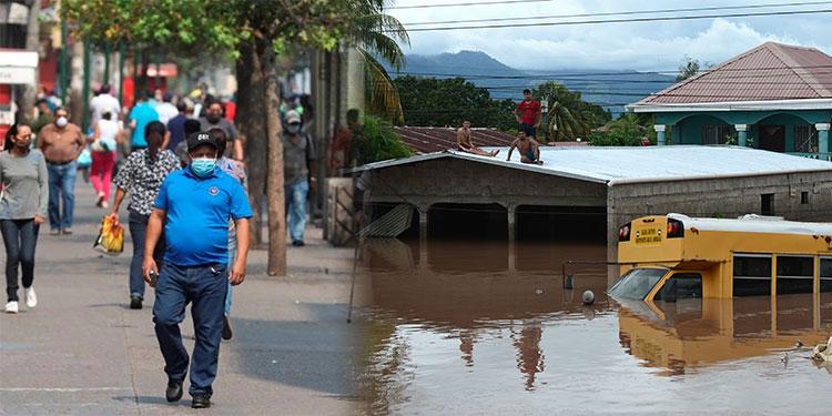 Pandemia y huracán hunden 10% la economía hondureña