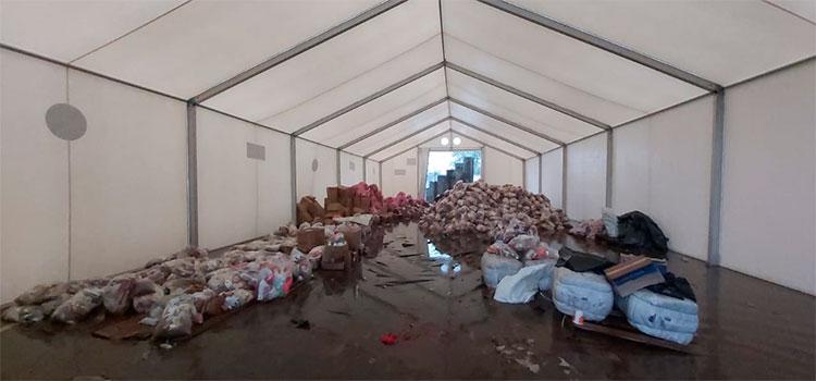 MP indaga sobre donaciones almacenadas a punto de dañarse en Choloma. Una nueva línea de investigación por la emergencia ocasionada por los recientes
