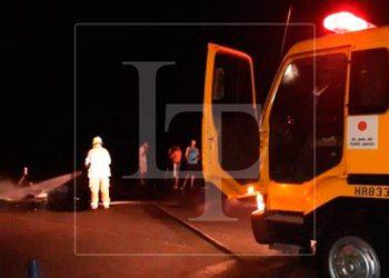 Dos motociclistas mueren calcinados tras colisionar