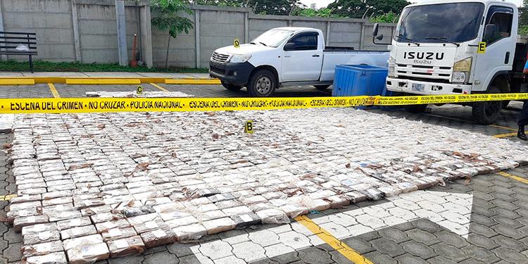 Policía de Nicaragua incauta cocaína en frontera con Honduras
