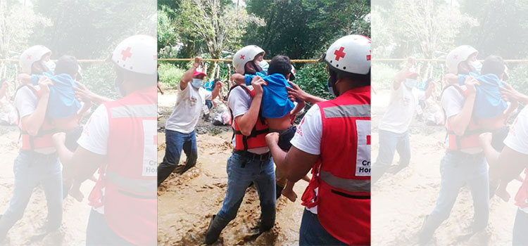 Cruz Roja se enfoca en ayudar a largo plazo a hondureños damnificados de Eta