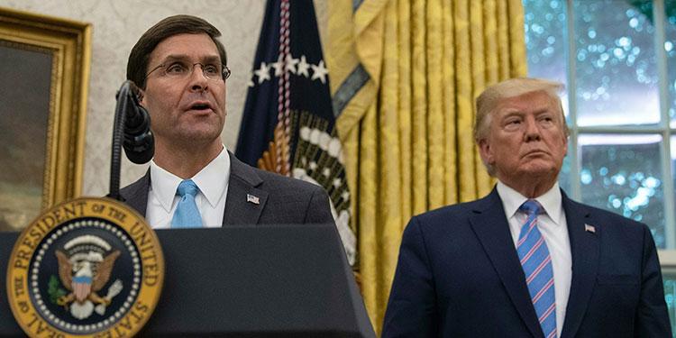 Dimite la cúpula civil del Pentágono tras el despido de Esper por Trump