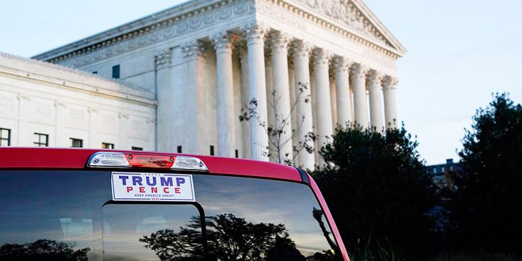 """Trump pronostica """"muchos litigios"""" para conservar su puesto"""