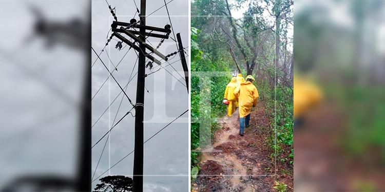 Reportan fallas en el fluido eléctrico en el Litoral Atlántico por las intensas lluvias