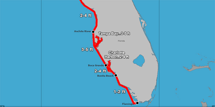 Eta se convierte otra vez en huracán mientras se acerca a la costa oeste de Florida