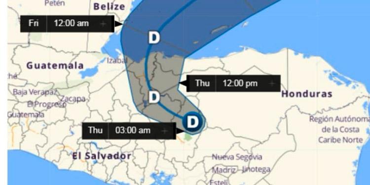 Cenaos: depresión tropical Eta se encuentra en Francisco Morazán