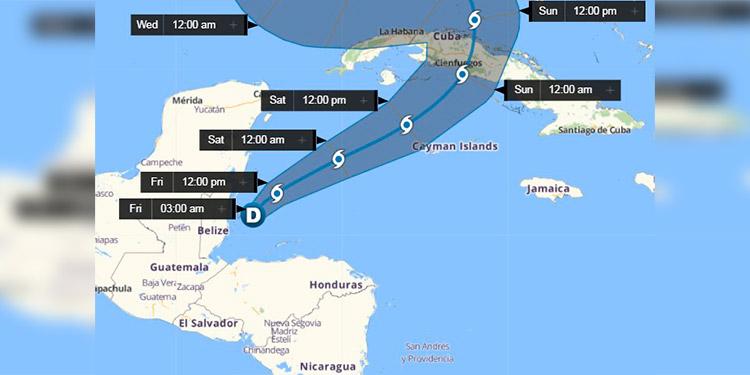 Eta se aleja de Honduras y podría convertirse en tormenta tropical en el Caribe