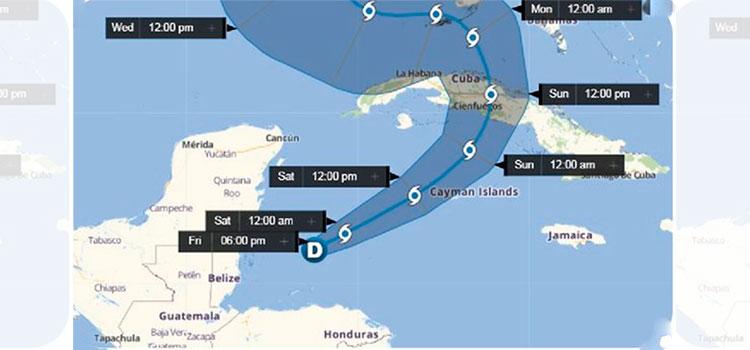 Eta está a 175 kilómetros de Roatán con una trayectoria rumbo a Cuba