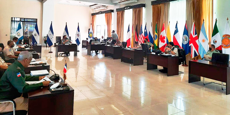 Fuerzas Armadas Centroamericanas abordan los temas COVID-19 y desastres naturales