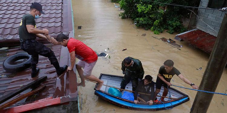 Tifón deja daños e inundaciones en el noreste de Filipinas