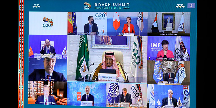 Arabia Saudita acoge un G20 virtual marcado por el coronavirus
