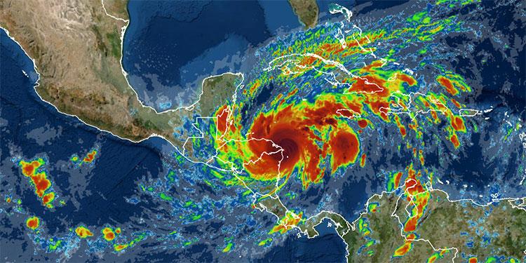 Con categoría 4 huracán ETA afecta a Honduras