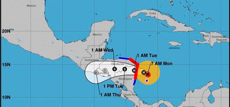 Huracán Iota adquiere la categoría 5 mientras se acerca a Centroamérica