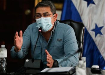 Presidente Hernández plantea al G-16 situación del país después de tormentas Eta e Iota