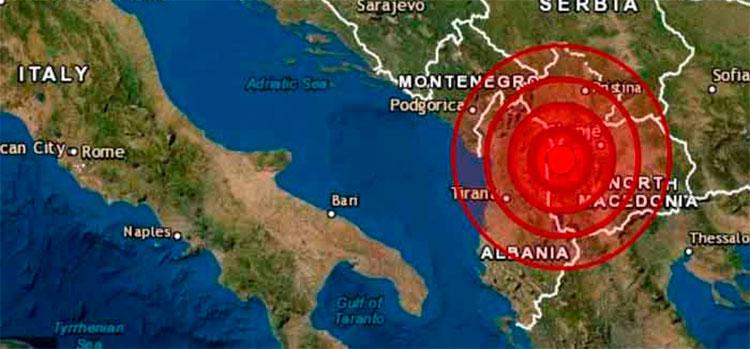 Dos terremotos sacuden el noroeste de Macedonia del Norte