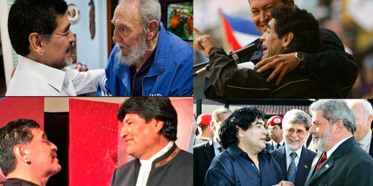 Maradona fiel con los líderes de la izquierda; fallece el mismo día que Fidel Castro