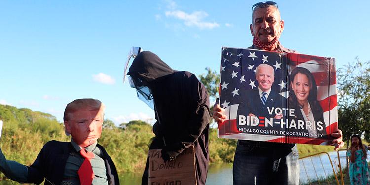 Migrantes en la frontera México-EEUU esperan que con Biden afloren los asilos