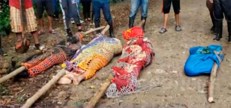 Cuatro miembros de una familia mueren soterrados en Cofradía, Cortés