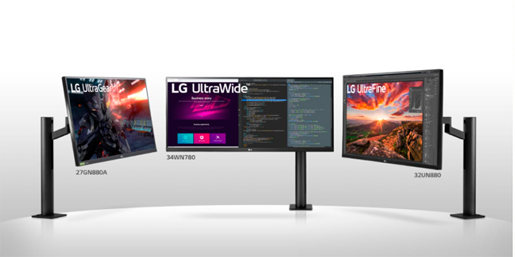 LG lanza sus nuevos monitores con diseño ergonómicos