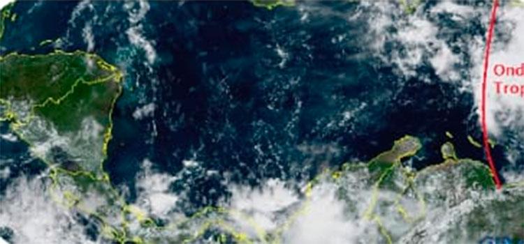 Onda tropical en el Caribe se desplaza lentamente