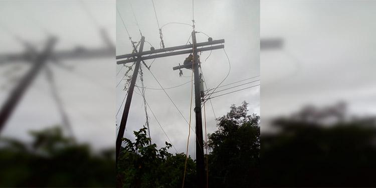 EEH reporta fallas de energía en Litoral Atlántico y Nor Occidente del país