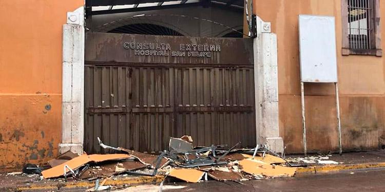 Daños en el Hospital San Felipe por lluvias
