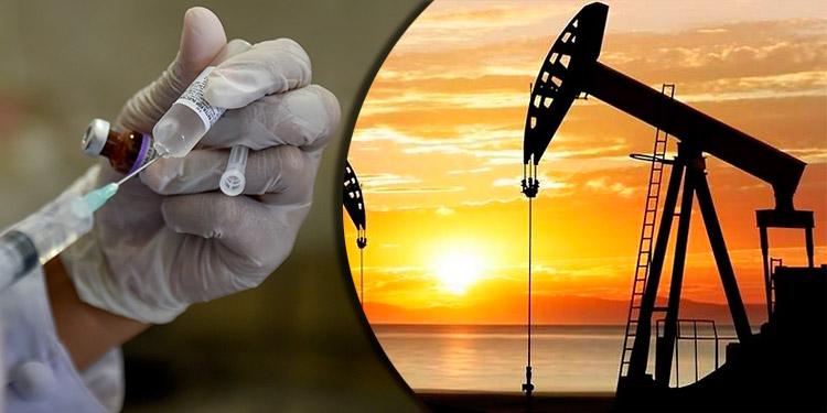 Vacunas y reservas influyen en el petróleo