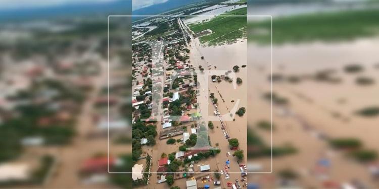Imágenes aéreas de las inundaciones en el Valle de Sula