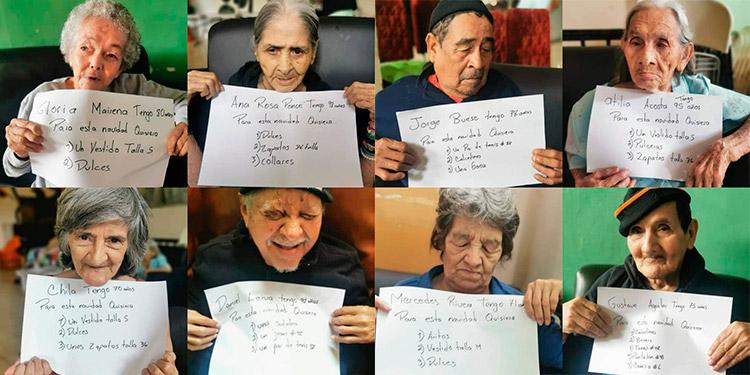"""Abuelitos"" sin hogar buscan ""padrinos"" para esta Navidad"